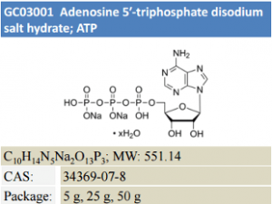 Adenosine 5-triphosphate disodium salt hydrate; ATP
