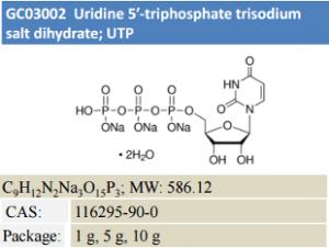 Uridine 5-triphosphate trisodium salt dihydrate; UTP